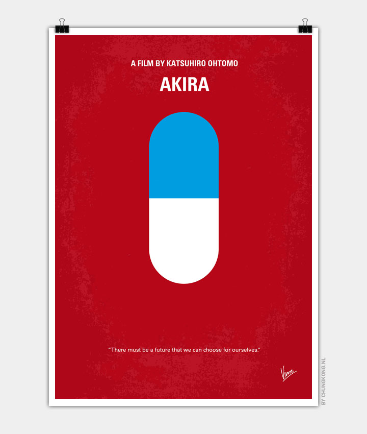 no144 my akira minimal movie poster