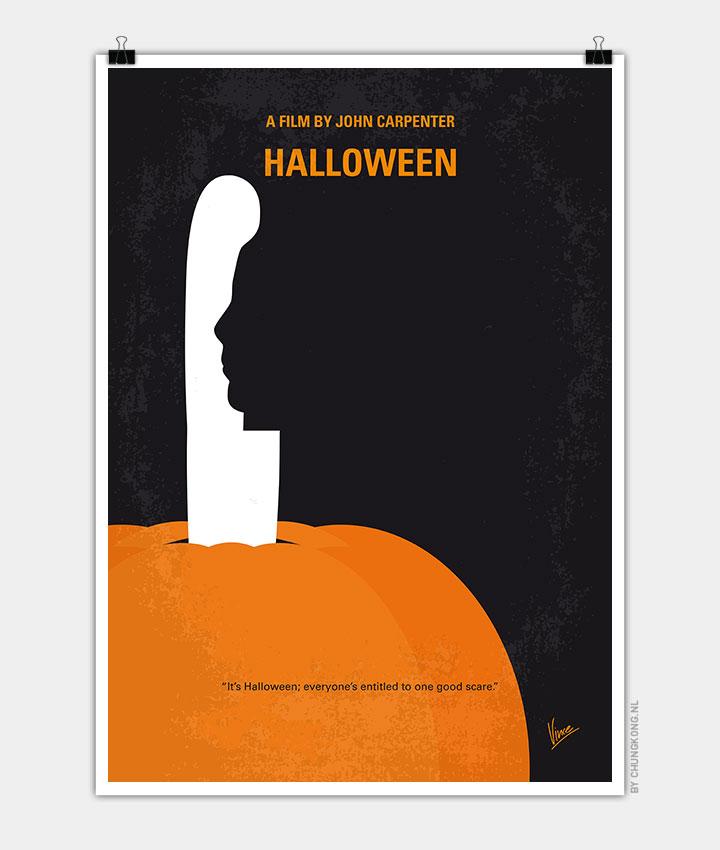 my halloween minimal movie poster