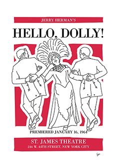 no020 my hello dolly musical poster