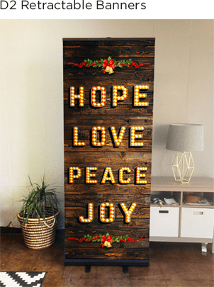 Christmas Banner with Stands