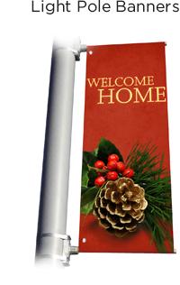 Christmas Light Pole Banners