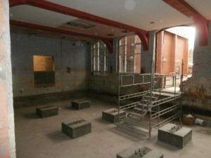 LRC in the process of reconstruction looking left where the Careers Room used to be.