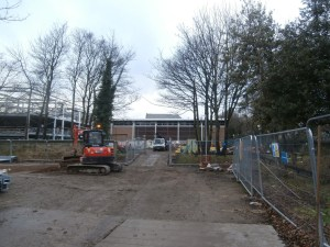 New Approach: second site access by Sports Hall.