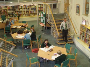 The heart of the school: the vibrant LRC as it used to be.