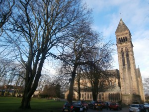 School Church in December sunshine: St George's, Jesmond.