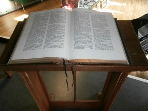 The School Bible was left open at I