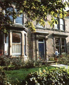 'Up the road': Gurney House in the 1980s housed Home Economics on the Ground Floor, Art & Textiles on the First Floor and the Computing Department in the eaves on the Top Floor.
