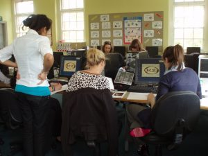 21st Century Girls in the new ICT Suite.
