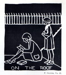 Recreation on the flat roof, Jubilee Magazine 1933-4.