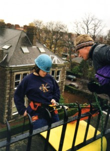 Duke of Edinburgh Award Abseil, November 1998.