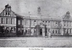 School Buildings, 1900, showing only the north gable-end.