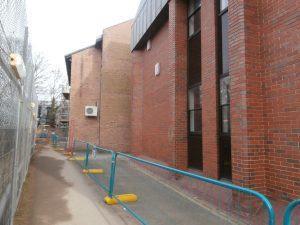 'I Spy with my little eye' .... two white boxes on the west wall of the Church High Science Wing.