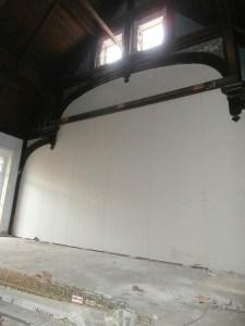 Church High Hall north wall