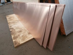The first pieces of copper cladding have arrived on site.