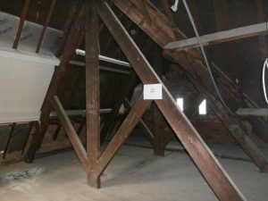 The north gable attic space as of February 24th 2016.