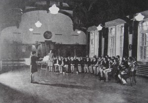 A music class in the Church High Hall in the 1960s.
