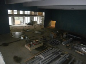 Looking down into the main Hall from the first floor corridor.
