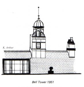 Bell Tower Sketch, Rachel Arthur, Centenary School Magazine.