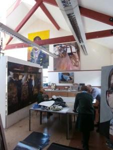 Grant Wells teaching in the north Art Studio.