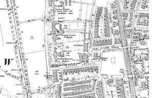 The map for 1890 shows the school site with only a small patch of land behind it with the Fleming Memorial Hospital's extensive grounds to the west and Northern Counties Orphanage land with Tankerville Gardens to the north.
