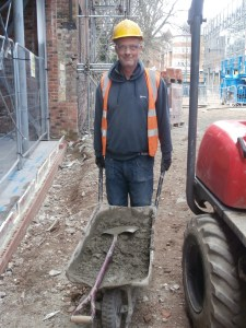 Eddie, D&L Groundworks, busy on site.