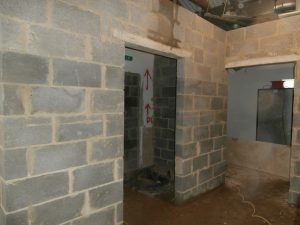 The two new wet rooms are a work in progress at the moment.