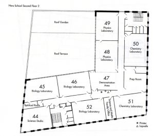 Second Floor Floor Plan of the NHSG New Build.