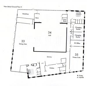 The Ground Floor floor plan of the new NHSG building.