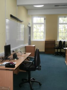 Sunny, bright & airy: the top-lit Church High ICT Suite.