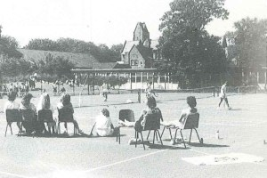 The courts were resurfaced in 1986 just after I arrived at Church High.