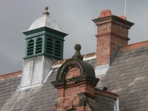 The original Victorian roof ventilator above Room 8.