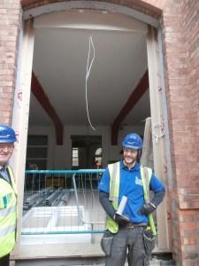 Work is now underway on the LRC courtyard door.