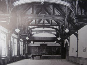 Church High School Hall c 1935 with the Jubilee table and chair.