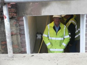 Wates' Paul Carmichael spies me from the Plant Room doorway.
