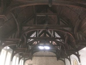 The Church High hammer beam roof in its full glory.