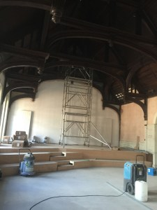 The transformation of the north end of the Church High Hall into a Sixth Form Common Room for NHSG.