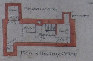 Heating Cellar detail from the Oliver & Leeson 1888 plan.