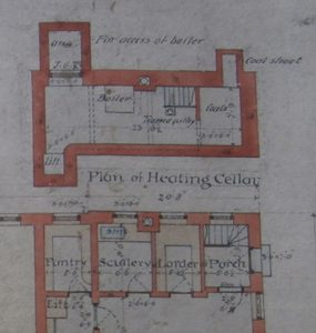 NHS domestic quarters - above and below stairs on the 1888 plans.