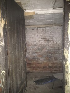 The entrance to the Heating Cellar looking towards Tankerville Terrace.