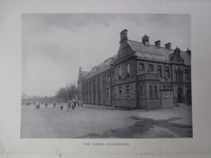 Leeson's dormer windows visible in the west roofline of Newcastle High School c1910