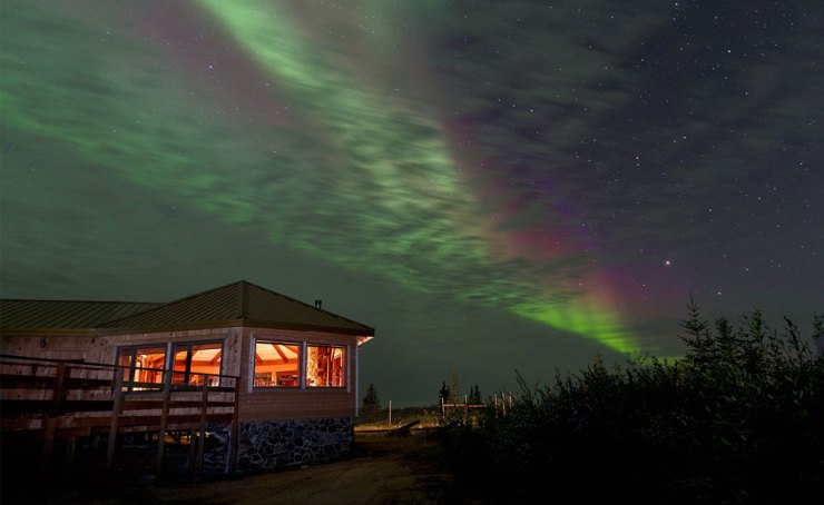 Nanuk Polar Bear Lodge on the southern coast of Hudson Bay. One of Churchill Wild's four Arctic luxury lodges.