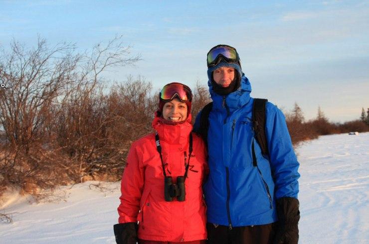 The newlyweds at Dymond Lake EcoLodge! Stephanie Reinhart and Mark Jockel.