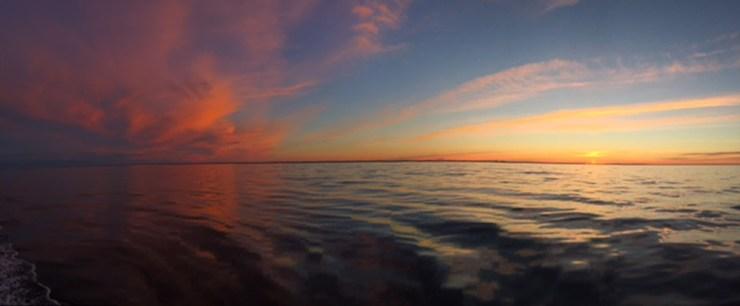 Sunset at Seal River.