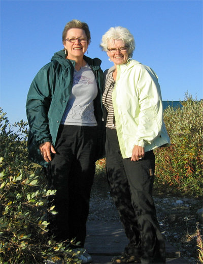 Blueberries & Polar Bears authors Marie Woolsey (left) and Helen Webber.