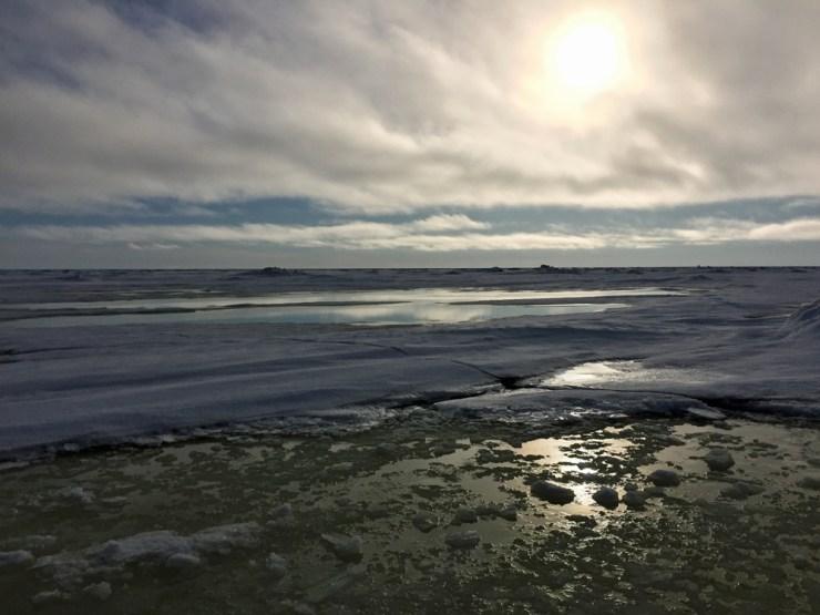 Open water on Hudson Bay. Beautiful and dangerous.