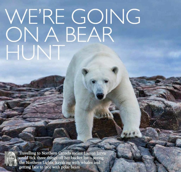 Coming face to face with a polar bear in the wild is definitely a bucket list item. Photo courtesy of Grazia UK.
