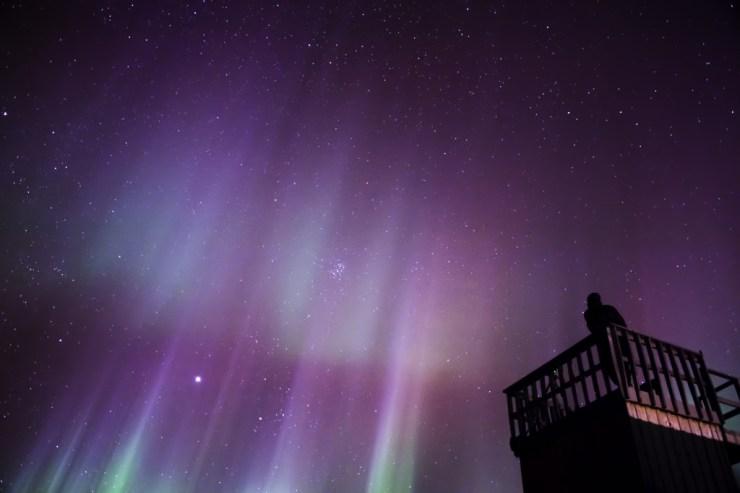 Northern lights at Seal River Heritage Lodge. Dennis Fast photo.