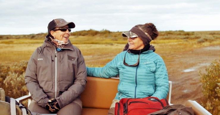 Lori Ginn and Tammy Lengyel enjoying polar bear country.