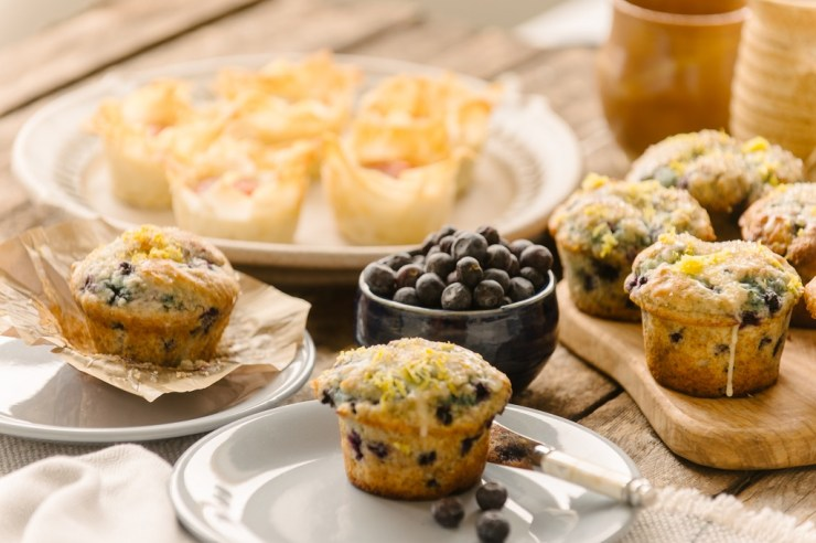 Wild berries and fresh muffins!