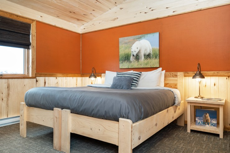 Bedroom at Nanuk Polar Bear Lodge. Scott Zielke photo.